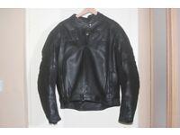 Gents leather motor bike jacket - size large