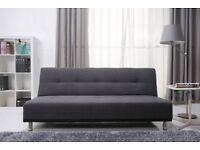 Leader lifestyle duke fabric futon sofa bed - pebble grey BRAND NEW