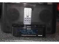 SONY DAB RADIO/REMOTE/IPOD DOCK/AUX IN PLAY IPOD PHONE/DAB ANTENNA
