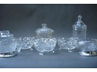 Antique Glass Sugar Bowls