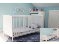 NEW WHITE COT BED AND BRAND NEW MATTRESS!!!