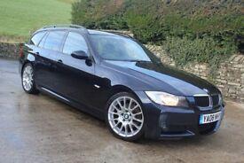 2008 BMW 320D Edition M Sport Touring, Sat Nav, Air Con, 174bhp, 89,750 miles, F.S.H