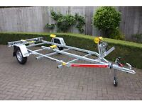 NEW Boat Trailer 5.m 750kg - Adjustable Drawbar - Keel Rollers - Side Supports - Winch TEMA