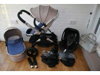 iCandy Peach 3 Azure Pram pushchair with car seat 3 in 1 CAN POST