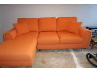 corner sofa and swirl chairs