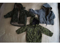 3x Boys coats aged 1 to 2 ( H&M. Next)