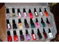 50 Bottles of Attitude Nail Varnish ,in Carry Case