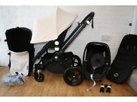 Bugaboo Cameleon Cam 3 pram + car seat 3 in 1 Off White / Black travel system CAN POST