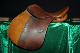 Good Quality 15 1/2 inch Leather GP Saddle, Pony, equine, very little used VGC