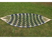 Hand Made Hammock - Blue and White Fishnet Design
