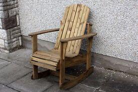 Adirondack garden chair Garden rocking chairs seat furniture set bench Summer Lough view Joinery LTD