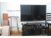 46 samsung led TV with Blueray player and +