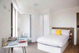 Double bed in 300 rooms student hall at North End Road Wembley Street in London - Room 5