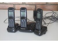 Set of 3 Panasonic Cordless Phones