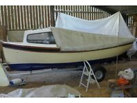 GAFFERS AND LUGGERS PICAROONER 16ft LAUNCH WITH CUDDY AND ROAD TRAILER IN EXCELLENT CONDITION £2500