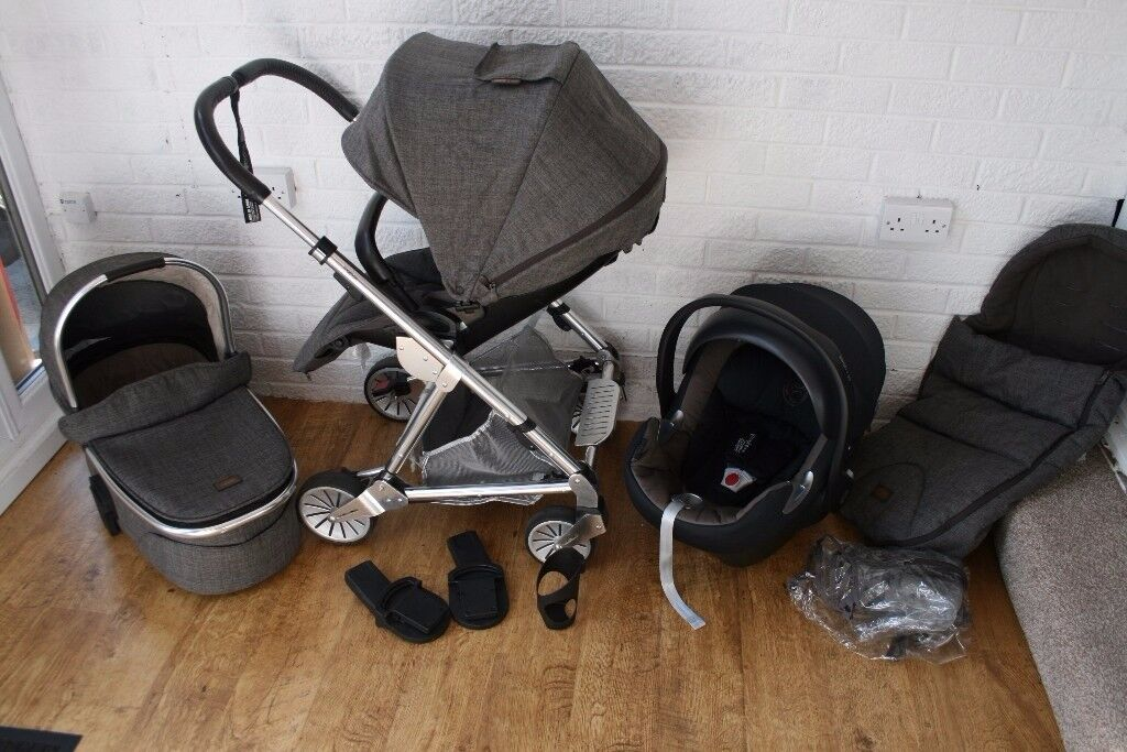 Mamas and Papas Urbo 2 Chestnut Tweed pram travel system 3 in 1 + extras CAN POST