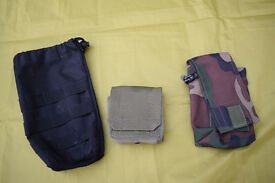 Three Military / Airsoft Webbing Pouches
