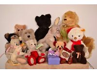 Collectable and vintage bears and stuffed toys- Steiff, Deans, Boyds, Quarrington- Christmas gift