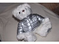 Giorgio Beverly Hills MILLENNIUM Collectors Teddy Bear - WHITE with SILVER COAT