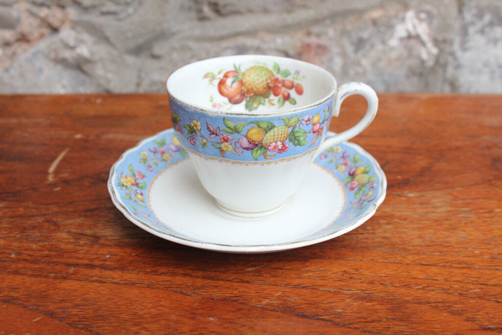 Unusual Vintage Tea Cup and SaucerGrindley Exotic Fruit Design Coffee Cup Pineapplein Gloucester Road, BristolGumtree - Vintage cup and saucer made by Grindley. The pattern is Royal Petal Marlborough. Both are in good condition considering their age, although the saucer has some small chips on the underside due to being displayed. If you have any questions or are...