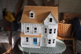 Dolls House fully equipped with wires necessary for electricity