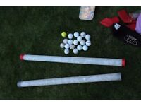 Practice Golf Balls and Range Tubes