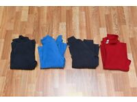 4 x Kids Childs fleece fleeces assorted colours in excellent condition - aged 10