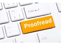 PROOFREADING & EDITING for Essays/Dissertations/CVs/Course Applications/Personal statements etc.