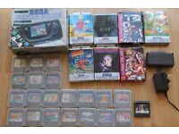 Boxed Sega Game Gear - 28 Games, Master System Converter, Power, Recapped, good screen and sound.