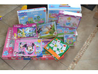 A selection of girls puzzles 3+