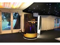 Photo Booth Hire - Up To 8 People - Popcorn Machine - Light Up Wood LOVE Letters & Giant Love Heart