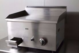 Gas Griddle Counter Top Hot Plate Commercial 730mm