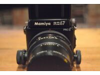 Mamiya RZ67 Pro II with 3 lenses and more! MINT CONDITION