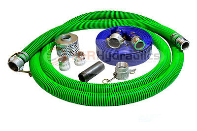 2 Epdm Water Suction Hose Honda Complete Kit W100 Blue Discharge Hose