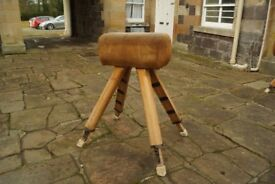 Vintage extendable horse vault for gymnastics and gym use - From an all boys school gymnasium