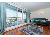 +2 BED 2 BATH IN CANARY WHARFS ANTILLES BAY BALCONY OVERLOOKING DOCK WITH WHARF VIEWS *A MUST SEE*