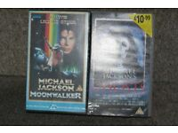 2 VERY RARE MICHAEL JACKSON VHS VIDEO TAPES GHOSTS & MOONWALKER JACKO