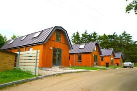3 bedroom log chalets available to rent (short/long term) on the outskirts of Aberdeen City Centre