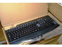 JOBLOT 100 X BRAND NEW RETAIL BOXED UK IBM Lenovo Black USB Standard Keyboard ANY PC / LAPTOP