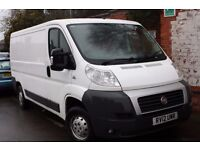 Driver with own van,looking for work.(FIAT DUCATO 2012,MWB.)