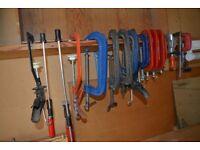 Twenty assorted clamps