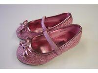 *NEW* Walkright Little Girls Sparkle Bar Ballerina Shoes Size 5 ( East Putney SW15)