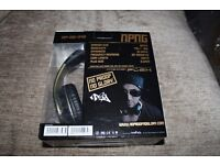 VEP-020-NPNG No Proof No Glory Super Soft adjustable stereo headphones with Flex anti tangle cord