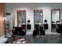 Italian multi coloured Salon Mirrors Salon chairs available