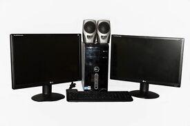 "Dell Studio XPS-435MT 2.66GHz Intel Core i7-920 6GB RAM 1TB HDD with Dual 22"" LG Monitors"