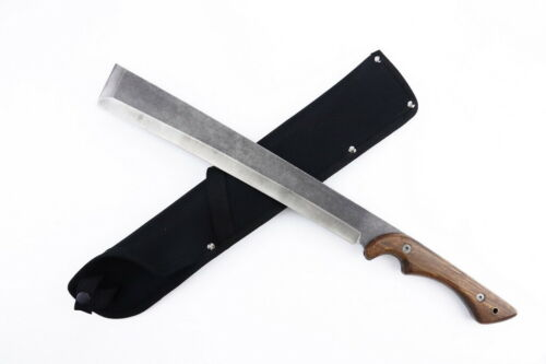 """20"""" Hunting Survival Hand Forged Machete Knife 3CR13 Steel Sharp Blade Camping"""