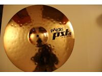 VARIOUS DRUM CYMBALS - MOSTLY PAISTE - PLUS STAND