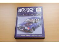 Land Rover Discovery Haynes Manual