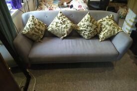2 seater sofa in grey