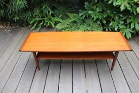 Pair of mid century teak coffee table (can be sold separately)